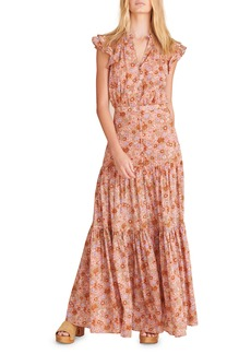 Veronica Beard Satori Floral Tiered Cotton Dress