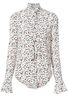 Veronica Beard scarf neck printed blouse - White