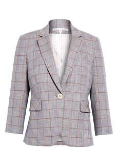 Veronica Beard Schoolboy Plaid Dickey Jacket
