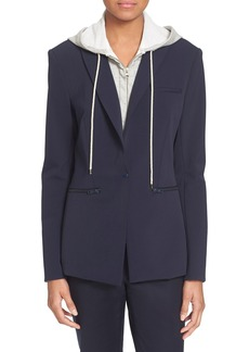 Veronica Beard Scuba Jacket with Removable Hooded Dickey