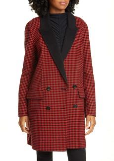 Veronica Beard Senna Houndstooth Wool & Cashmere Coat