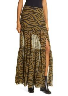 Veronica Beard Serence Silk Maxi Skirt