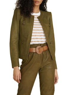 Veronica Beard Shanti Leather Jacket