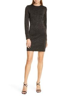 Veronica Beard Sharon Metallic Long Sleeve Sweater Dress
