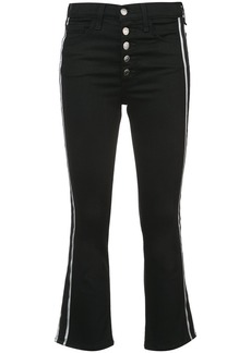 Veronica Beard side stripe flared jeans - Black