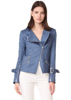Veronica Beard Sienna Collarless Moto Jacket