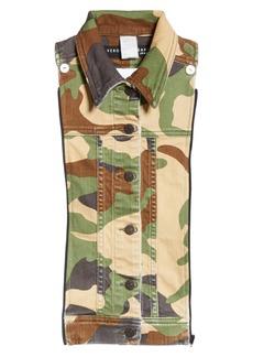 Veronica Beard Slate Camouflage Denim Dickey