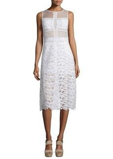 Veronica Beard Sleeveless Lace A-Line Dress