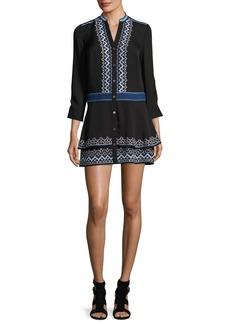 Veronica Beard Sloane Tiered Embroidered Dress