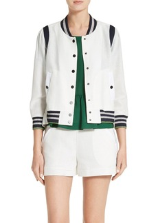 Veronica Beard Smith Rib Trim Jacket