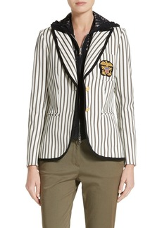 Veronica Beard Spirit Stripe Cotton Blazer