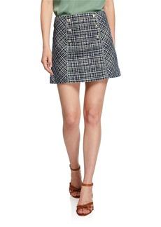 Veronica Beard Starck Crosshatch Mini Skirt