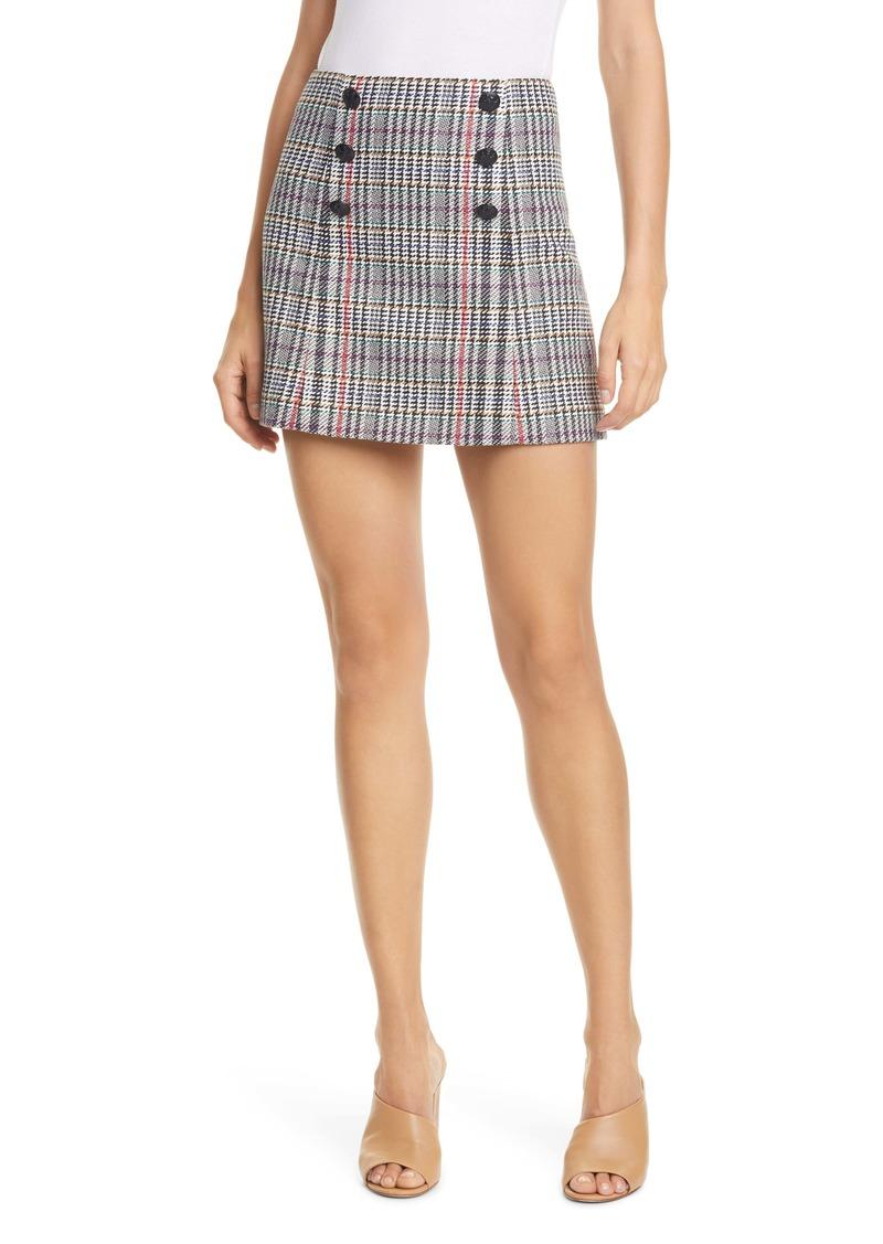 Veronica Beard Starck Plaid Tweed Miniskirt
