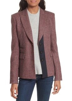 Veronica Beard Sterling Grosgrain Trim Jacket