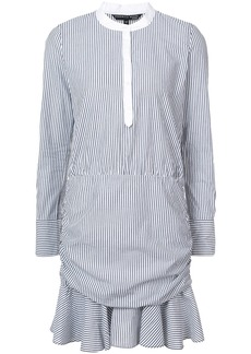 Veronica Beard striped drop waist mini dress - Black