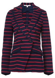 Veronica Beard striped fitted blazer - Red