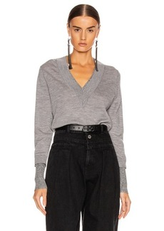 Veronica Beard Tatiana V-Neck Pullover Sweater