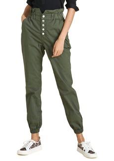 Veronica Beard Tedi Paperbag Waist Stretch Cotton Jogger Pants
