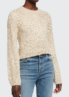 Veronica Beard Tilda Leopard-Print Pullover