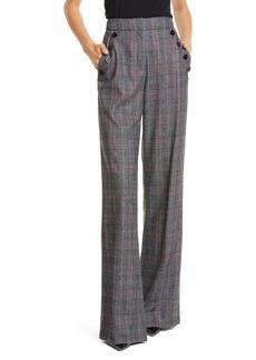 Veronica Beard Tuli Glen Plaid Wide Leg Pants