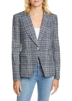 Veronica Beard Tweed Cutaway Dickey Jacket