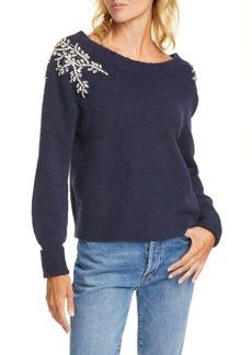 Veronica Beard Valerie Embellished Sweater