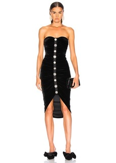 49fad0c56c3 Veronica Beard Maui Strapless Bustier Midi Dress