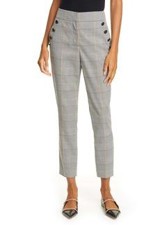 Veronica Beard Virgil Glen Plaid Crop Trousers