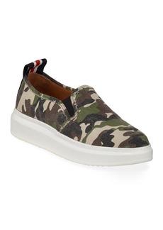 Veronica Beard Westley Camo Slip-On Sneakers