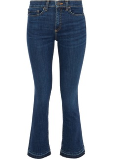 Veronica Beard Woman Carolyn Mid-rise Bootcut Jeans Mid Denim