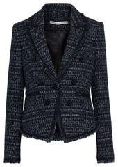 Veronica Beard Woman Cooke Dickey Metallic Tweed Blazer Navy