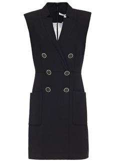 Veronica Beard Woman Doreen Button-embellished Crepe Mini Dress Black