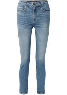 Veronica Beard Woman Faded High-rise Skinny Jeans Light Denim