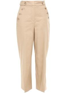 Veronica Beard Woman Hunter Linen-blend Straight-leg Pants Beige