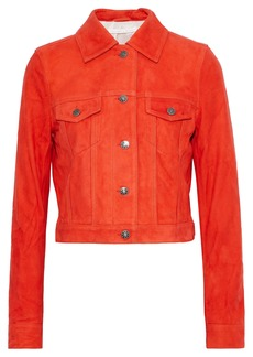Veronica Beard Woman Liam Suede Jacket Tomato Red