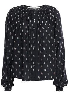 Veronica Beard Woman Fil Coupé Cotton-blend Shirt Black