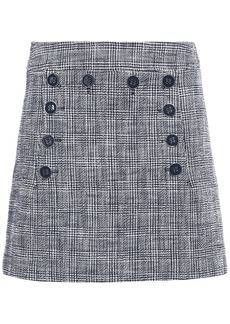 Veronica Beard Woman Maida Button-detailed Cotton-blend Bouclé-tweed Mini Skirt Navy