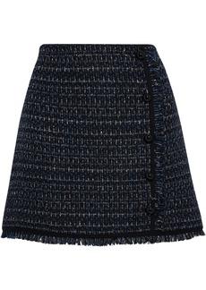 Veronica Beard Woman Mirabelle Button-embellished Metallic Tweed Mini Skirt Navy