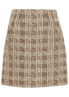 Veronica Beard Woman Roman Checked Bouclé-tweed Mini Skirt Light Brown