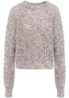 Veronica Beard Woman Ryce Marled Open-knit Cotton Sweater Tan