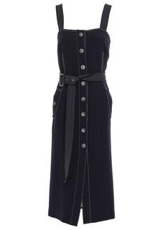 Veronica Beard Woman Woven Midi Dress Midnight Blue