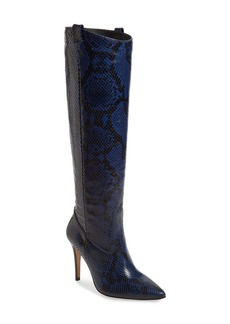 Veronica Beard Wyn Snake Embossed Knee High Boot (Women)