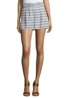 Veronica Beard Wynwood Striped High-Waist Shorts