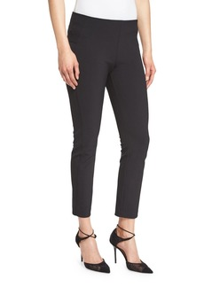 Veronica Beard Zip-Back Scuba Leggings