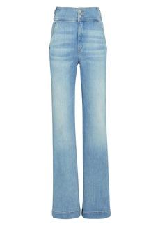 Veronica Beard Vira High-Rise Wide-Leg Jeans