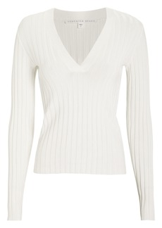 Veronica Beard West Ribbed Cotton Sweater