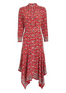 Veronica Beard Willamette Paisley Silk Shirt Dress