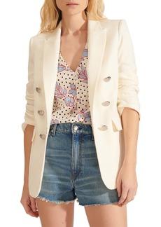 Women's Veronica Beard Beacon Linen Blend Dickey Jacket