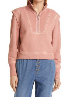 Women's Veronica Beard Dylan Half Zip Sweatshirt