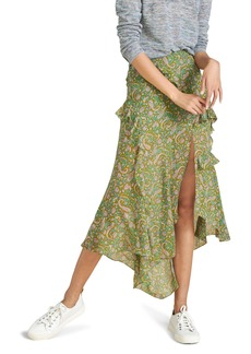 Women's Veronica Beard Eleonora Chiffon Silk Maxi Skirt